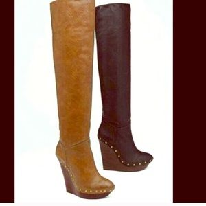 Colin Stuart wedge high over the knee boots